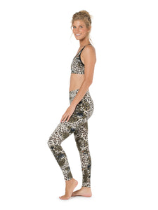 Two Piece Set, Top and Leggings, Activewear, Yoga Pants, Workout Bra, Women Leggings, Sports Bra, High Waist Leggings, Leopard Leggings.