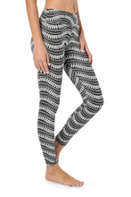 Load image into Gallery viewer, Black and White Leggings, Women's Yoga Pants, Activewear, Gym Leggings, Women's Tights, Yoga Leggings, Bohemian Clothing, Festival Wear.