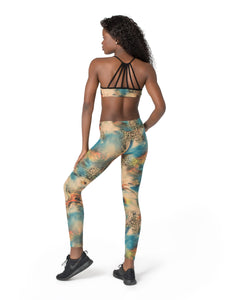 Women Festival Clothes, Top and Leggings, Yoga Clothes, Gym Set, Activewear, Bra Top, Tights Leggings, Work Out Set, Psychedelic Leggings.
