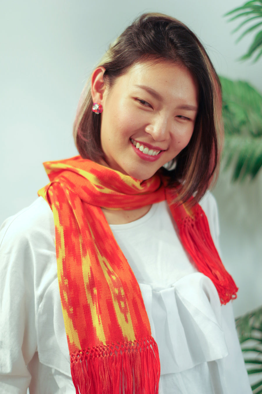 yellow-orange-scarf-ikat-macana-makikuna