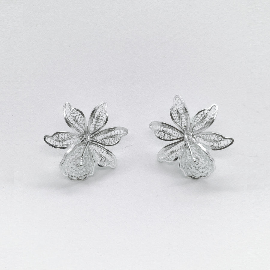 FILIGREE WILD ORCHID EARRING