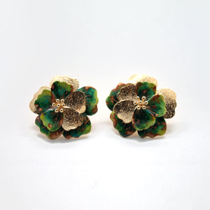 GREEN VIOLET EARRING