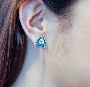 TRIANGLE FLOWER EARRING
