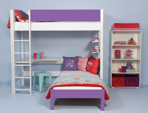 Manis-h High Loft Bed with Desk - BALDER
