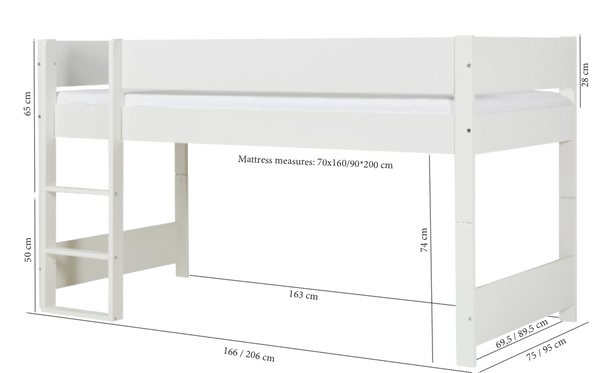 Manis-h Huxie Semi Loft Bed