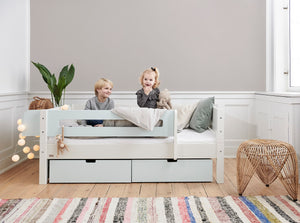 Manis-h Kid's Bed with Safety Rail and Drawers - MIMER