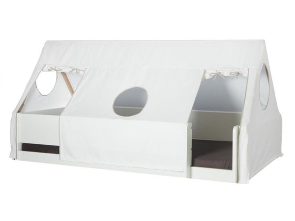 Manis-h Bed White Cotton Drape for Tent