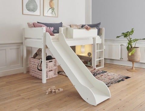 Manis-h Semi Loft Bed with Slide - LOKE