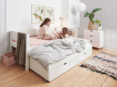 Manis-h Kid's Bed with Pullout Bed and Drawers - LUNA