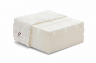 Manis-h 12cm Foam Mattress with Ergonomic Cut and Washable Cover (Made in Denmark)