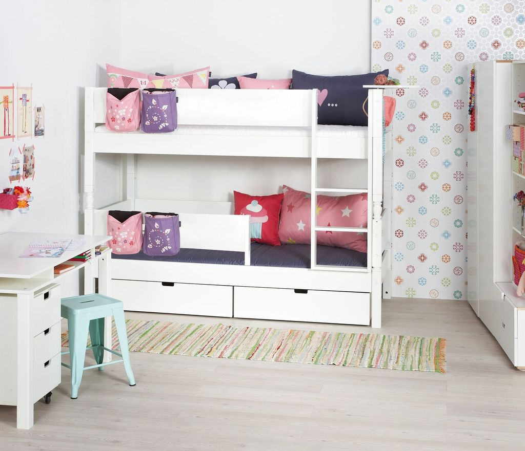 Manis-h Bunk Bed with 3 extra bottom safety rails - HODER