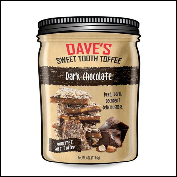 dark chocolate toffee chocolate Daves sweet tooth toffee