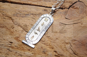 Personalized Sterling Silver Customized Cartouche Pendant