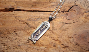 Eye of horus Personalized Silver Customized Cartouche