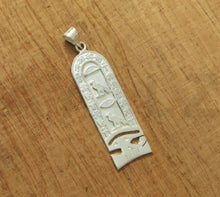 Egyptian Sterling Silver Eye Of Horus Custom Cartouche Pendant Charm