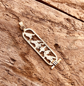 egyptian personalized 18K gold cartouche
