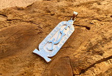 Personalized Sterling Silver Cross Ankh Cartouche Pendant