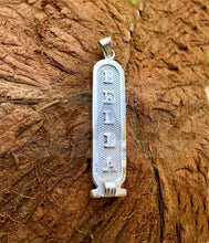 Personalized Egyptian Sterling Silver Customized Cartouche Charm Pendant