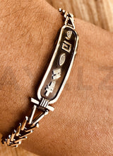 Egyptian Sterling Silver Personalized Cartouche Chain Bracelet
