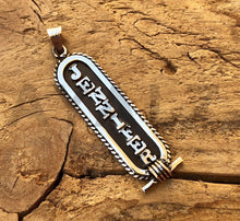 Framed Egyptian Personalized Sterling Silver Cartouche Pendant