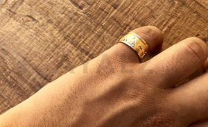 Egyptian Personalized 18k Gold Cartouche Ring