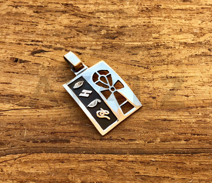 Personalized Egyptian Silver Cartouche Pendant With Ankh