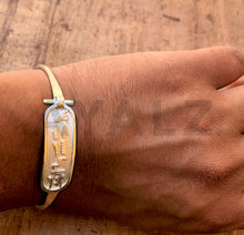 Egyptian Personalized Sterling Silver Cartouche Open Bracelet