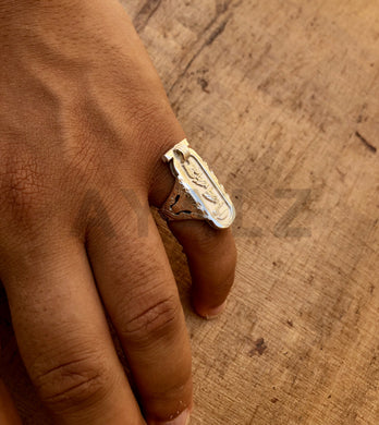 Personalized Egyptian Sterling Silver Customized Cartouche Ring