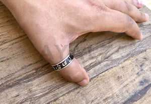 Egyptian Personalized Silver Cartouche Ring
