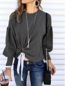 Gray Shift Casual Crew Neck Sweater