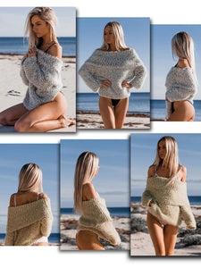 Sexy Off Shoulder Fold-over Sweater