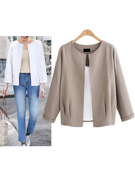 Plain PLus Size Elegant Fall/Autumn Gorgeous Coat