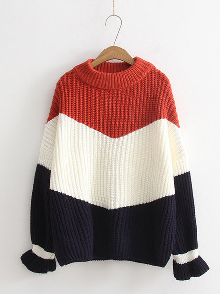 Fashion Loose Pullovers Knitting Pullovers Thick Sweater