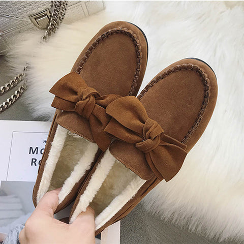 Winter Daily Bow Slipper Shoes