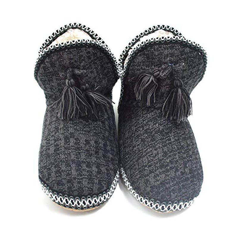Women's Cashmere Knit House Slipper Booties Cotton Quilted Warm Indoor Ankle Boots