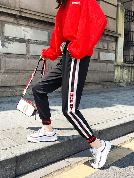 Patchwork Casual Skateboarding Pants