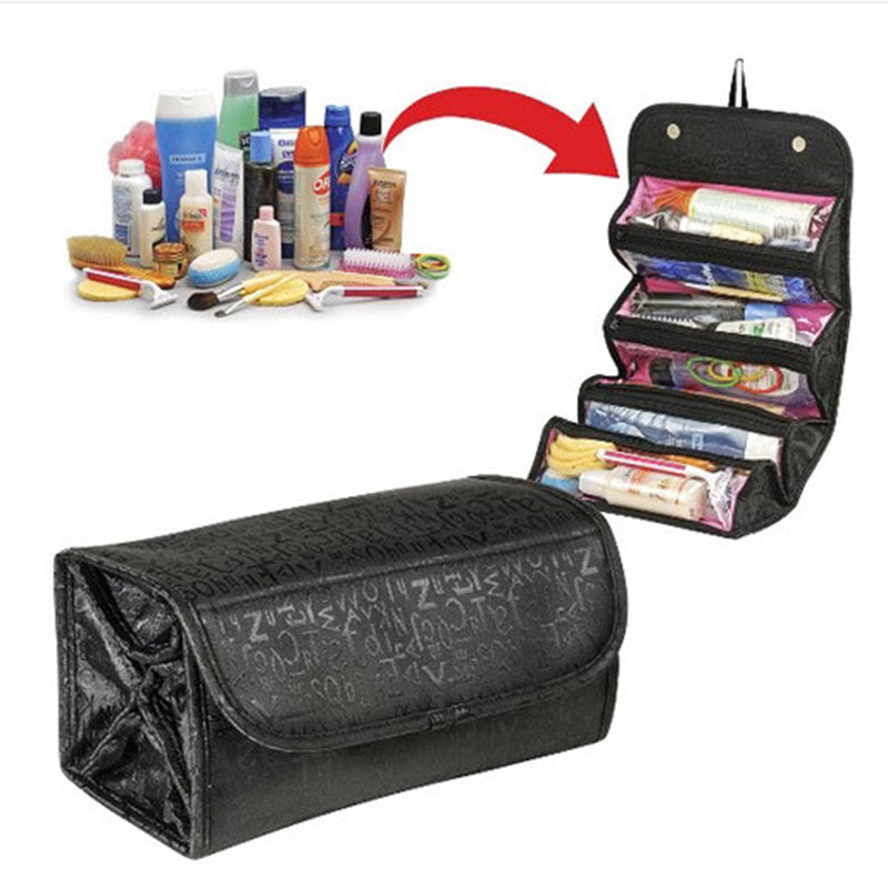Casual 600D Oxford High Capacity Small Volume Storage Bag Folding Cosmetic Bag - kattystory
