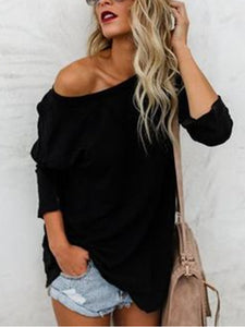 Casual Solid Long Sleeve Blouse