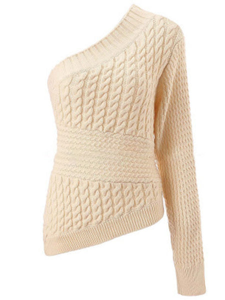 Women's Cotton Casual Knitted Sweater - kattystory