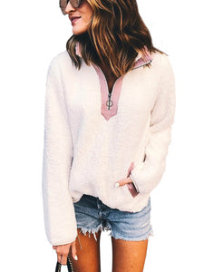 Casual Zipper Pocket Sweater
