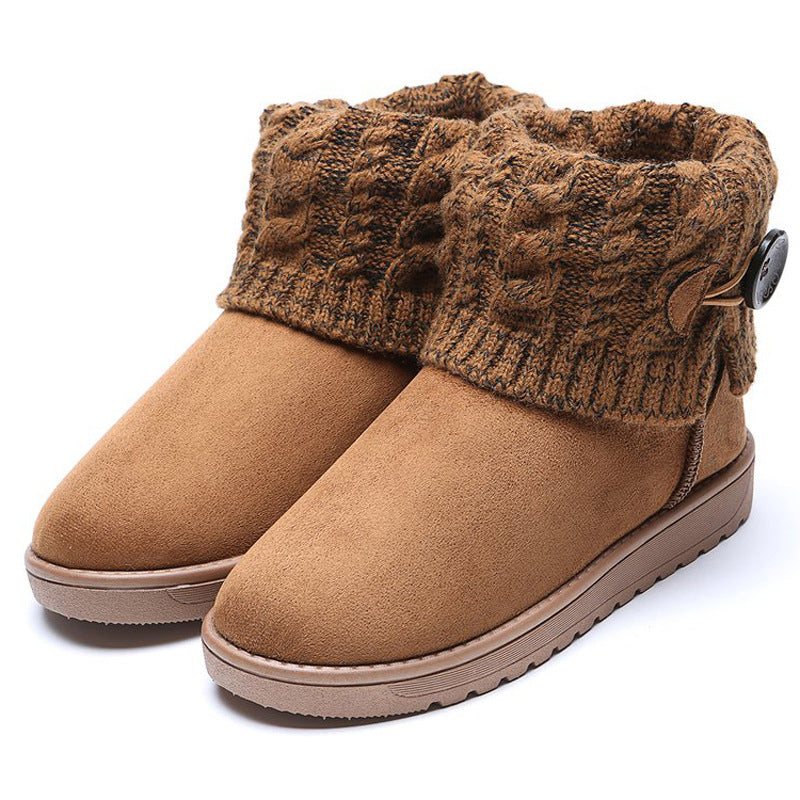 e3ffb374cd0 Kattystory Women Snow Booties Casual Comfort Warm Plus Size Shoes ...