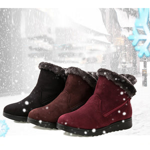 Women Snow Boots Warm Short Fur Plush Winter Ankle Boots