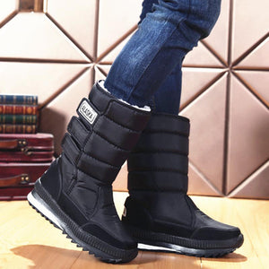 Women's Warm Flat Heel Oxford Winter Snow Boots