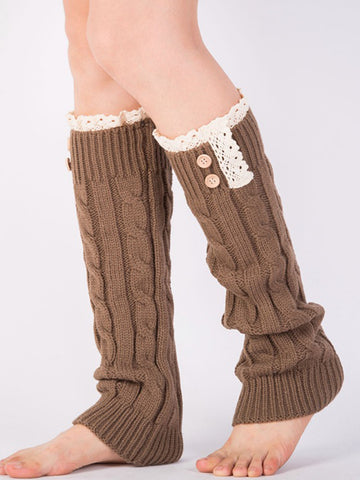Women Warm Knitted Long Socks