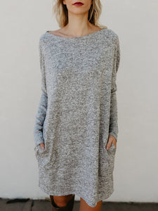 Casual Solid Knitted Dress