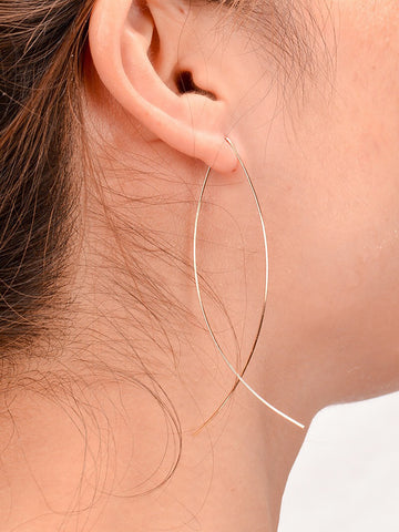 Womens Minimalist Hollow Fish-Shaped Earrings - kattystory