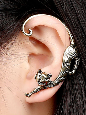 Retro Personality Punk Enchanting Cats ear hanging Earrings - kattystory