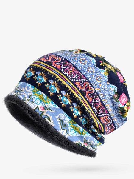 Retro Tribal Printed Cotton Hat - kattystory
