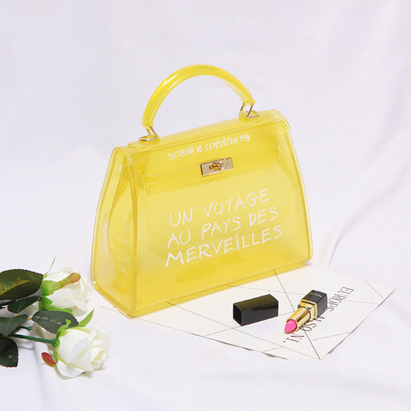 5fa23adf3e ... Big Size PVC Shoulder Bags Women Candy Color Women Jelly Bag ...