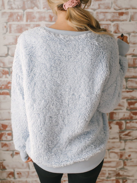 Sweet Solid Cashmere Crew Neck Sweater